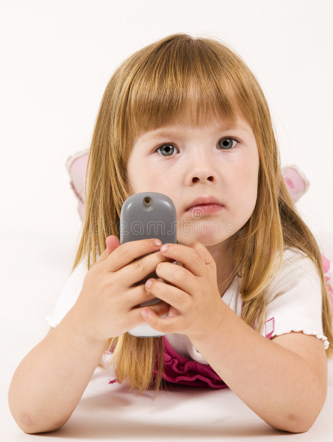 Download Girl With Mobile Telephone Stock Photography - Image: 6950342