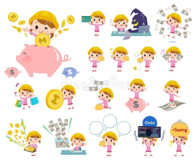 Girl_money de la guardería libre illustration