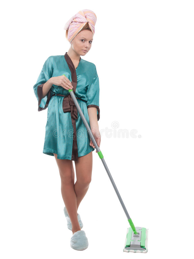 Girl with a mop