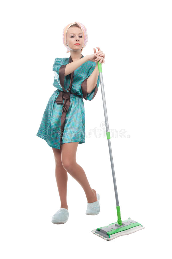 Download Girl With A Mop Stock Photos - Image: 22498093