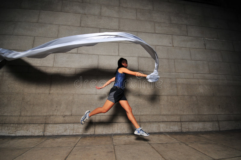 Download Girl in Motion 12 stock photo. Image of leaping, running - 6081124