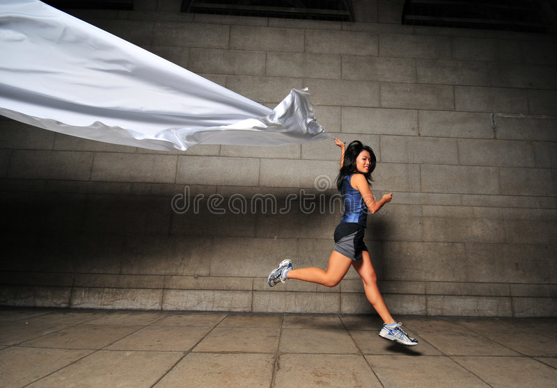 Download Girl in Motion 16 stock photo. Image of expressions, fabric - 6081188
