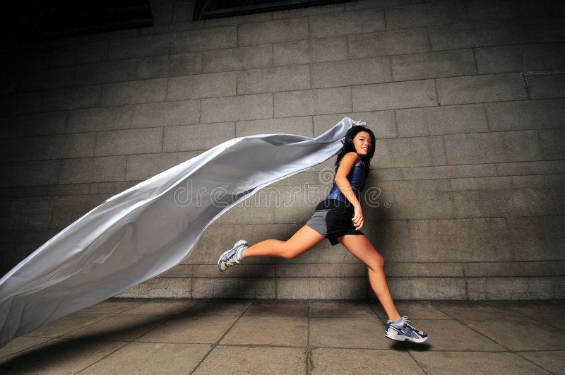 Download Girl in Motion 17 stock photo. Image of cloth, jumping - 6081254