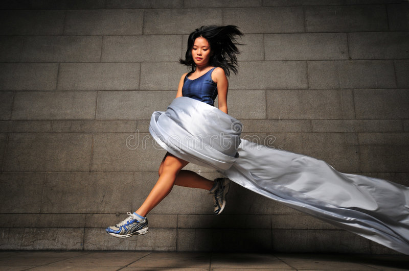 Download Girl in Motion 30 stock image. Image of leaping, running - 6092349