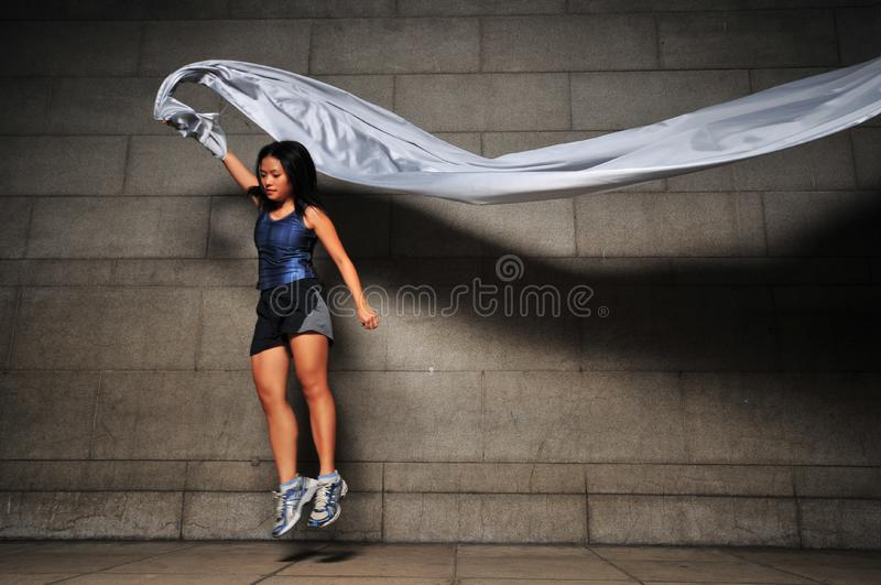 Download Girl in Motion 4 stock image. Image of cloth, motion, flowing - 6049967