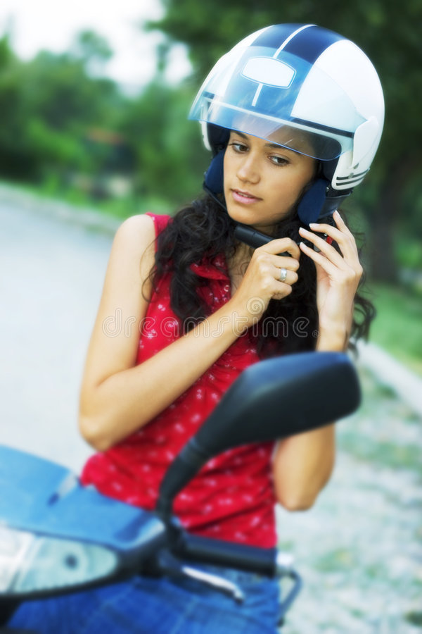 Download Girl on motorcycle stock image. Image of hands, beauty - 3084783