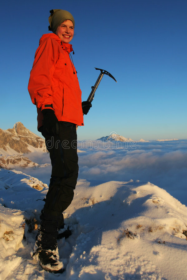 Download Girl in the mountains stock photo. Image of outdoor, hiking - 7244060