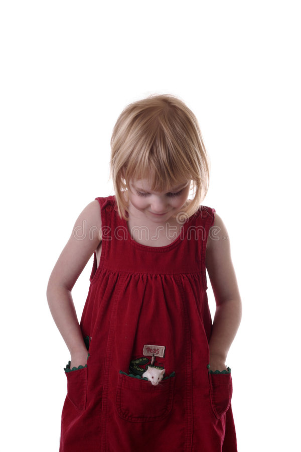Download Girl With Mouse In Her Pocket Stock Image - Image: 3975669