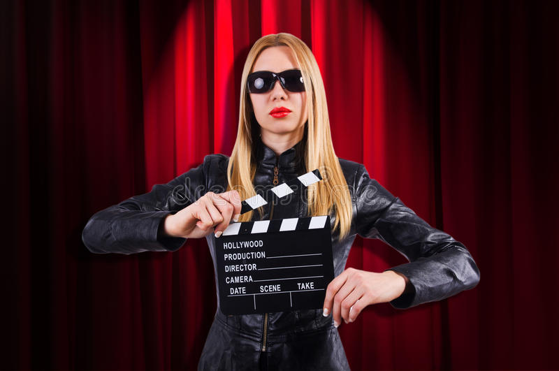 Download Girl With Movie Board Royalty Free Stock Photo - Image: 32480655