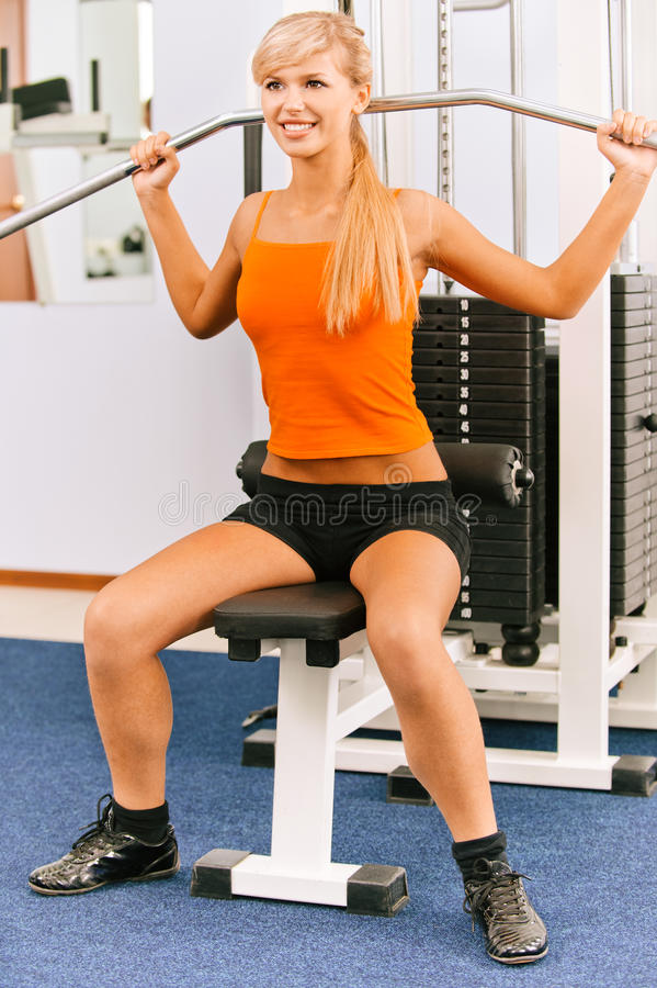 Download Girl on multi gym stock image. Image of figure, expression - 16589067
