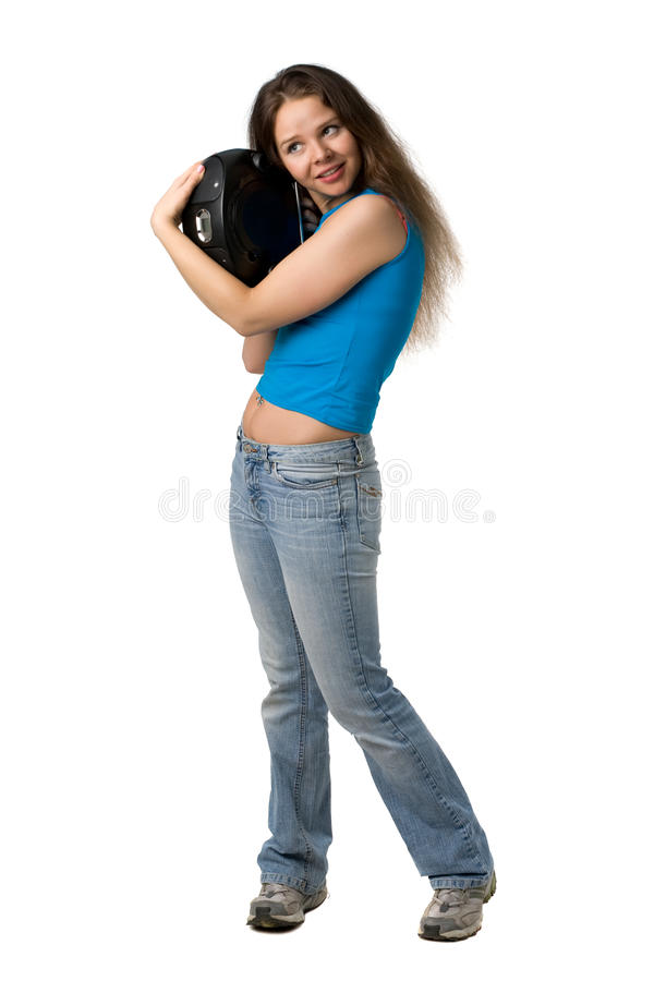 Download Girl With Music Player Royalty Free Stock Photo - Image: 9422175