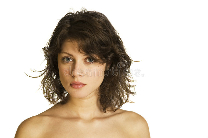 Girl With Naked Shoulders Stock Image