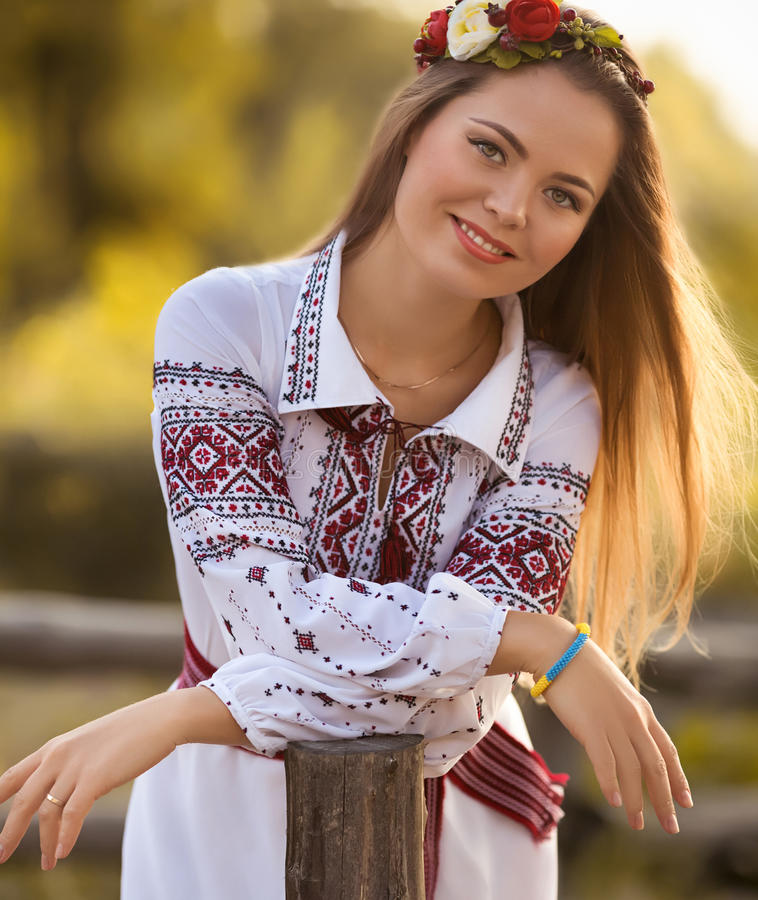 Girl in national clothes royalty free stock image