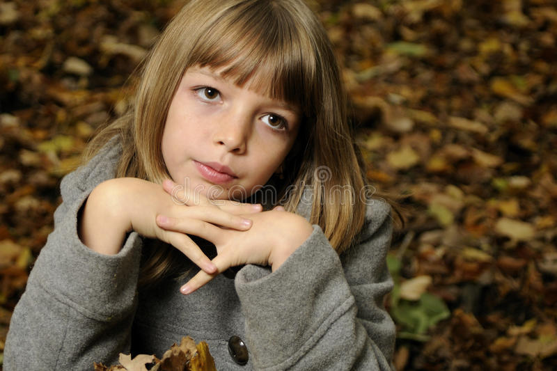 Girl in nature stock images