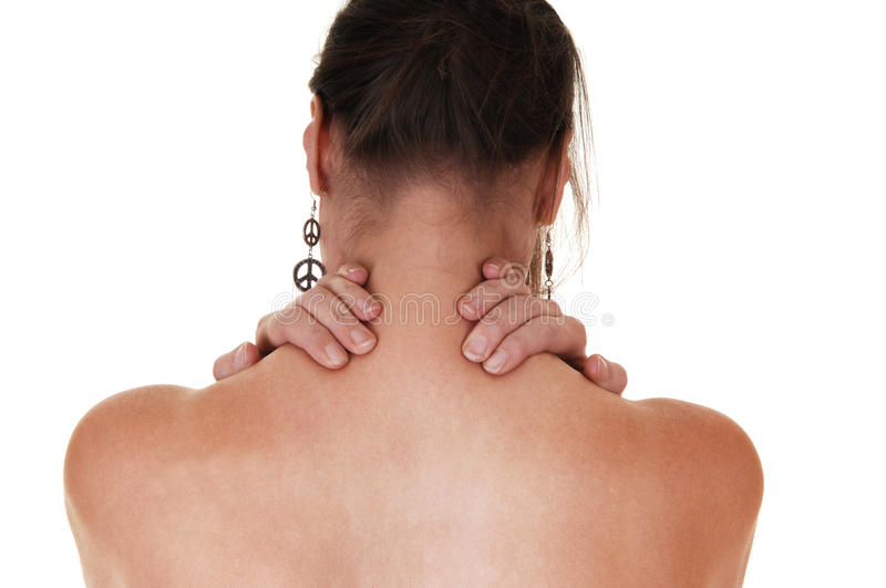 Download Girl with neck pain. stock photo. Image of ache, forties - 16847506
