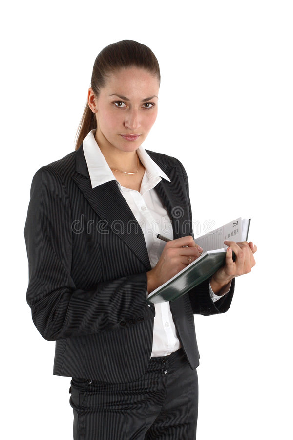 Girl with notebook 2 stock photos