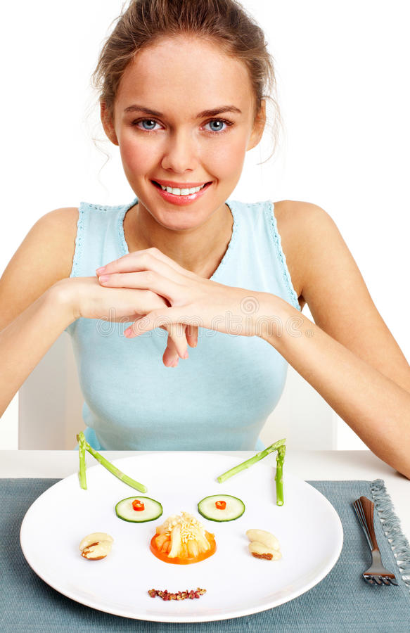 Free Girl On Diet Stock Photos - 17424363