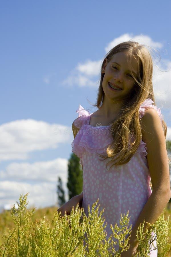 Free Girl On Meadow Stock Photos - 1073033