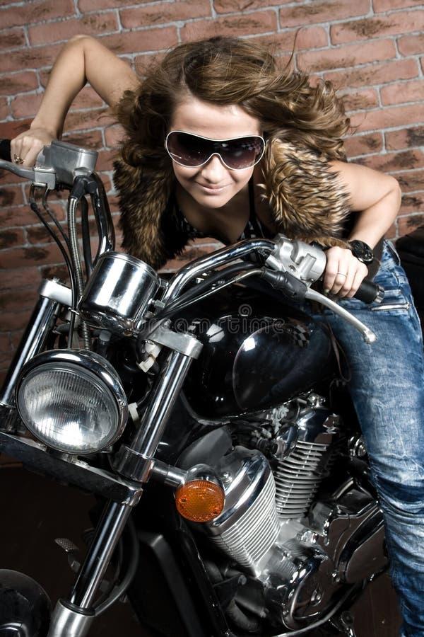 Free Girl On Motorbike Royalty Free Stock Image - 14384786