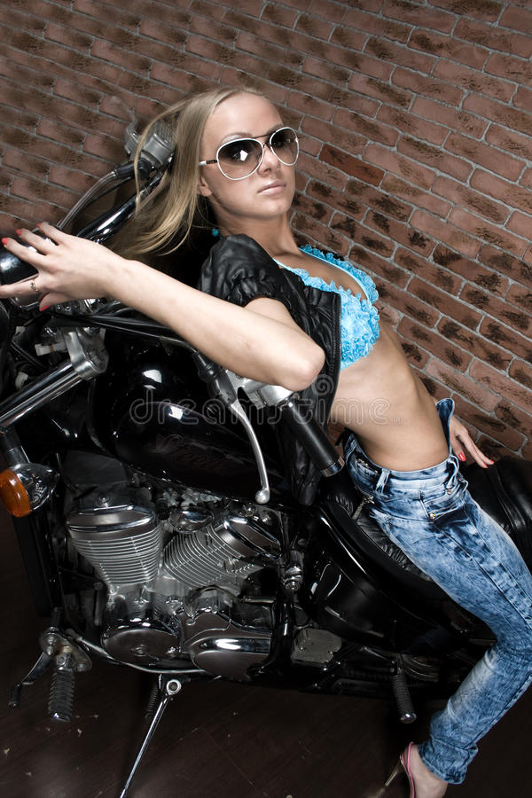 Free Girl On Motorbike Stock Image - 14385101