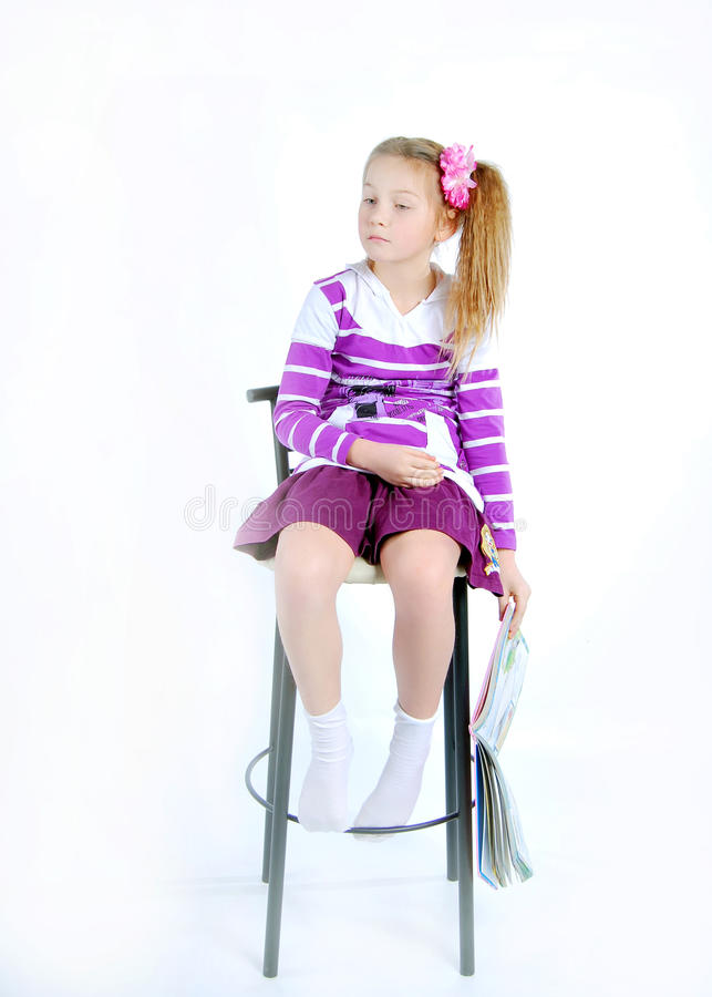 Free Girl On The Chair Royalty Free Stock Photography - 13360707