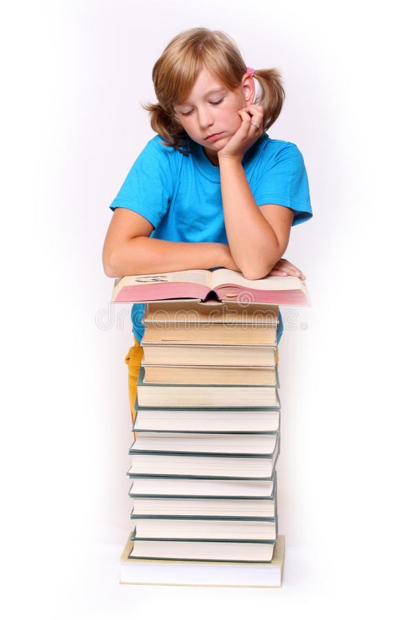 Download Girl with opened book stock image. Image of graduate - 10879167