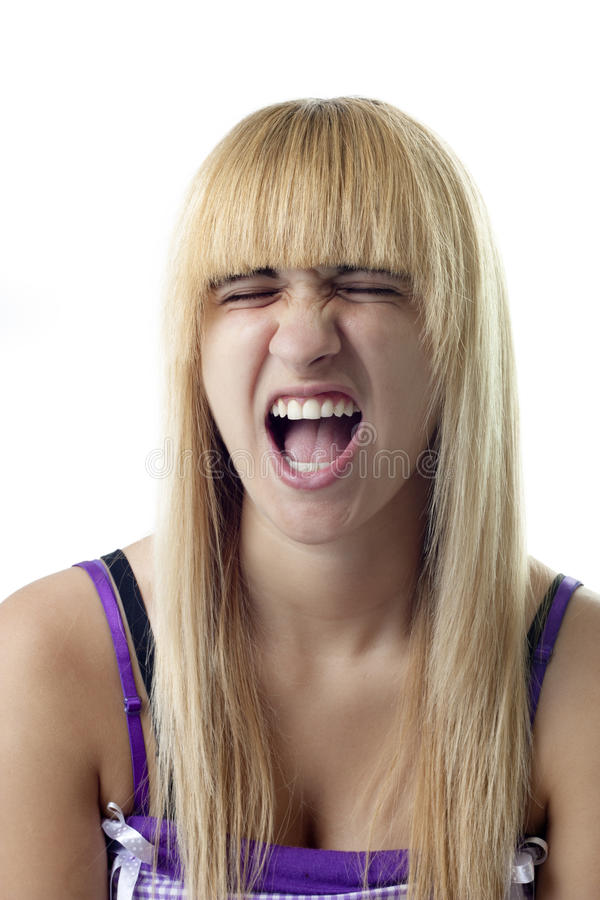Girl with Opened Mouth stock photos
