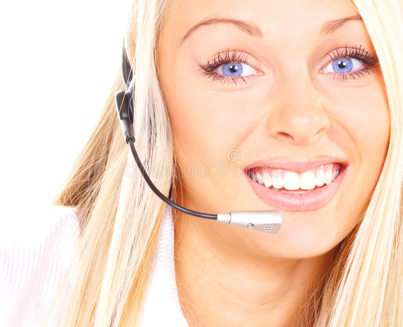 Girl the operator royalty free stock images