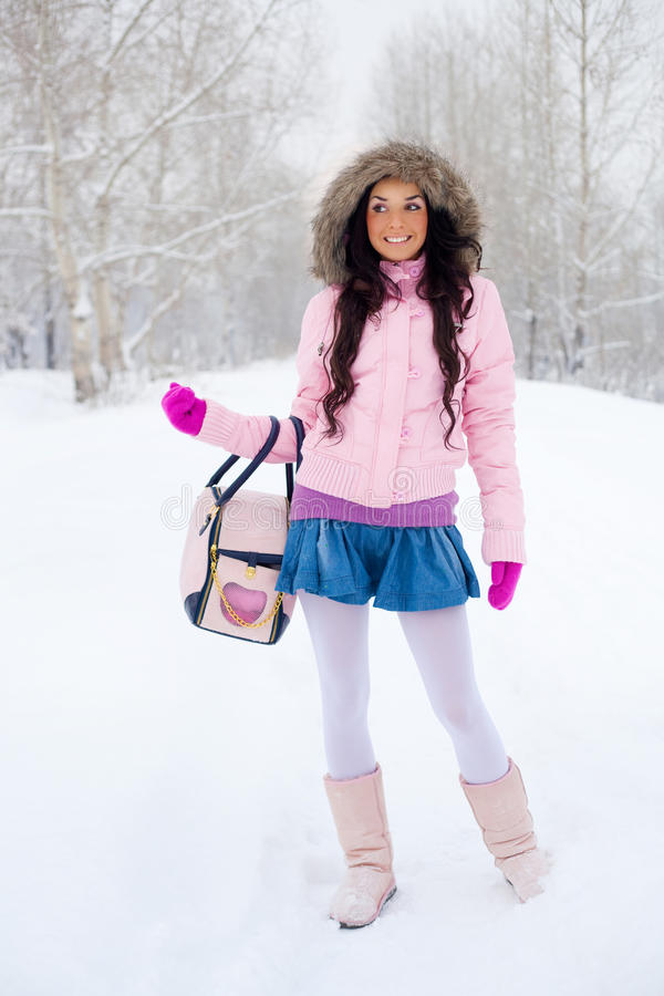 Download Girl outdoor stock image. Image of frost, long, boots - 11965083