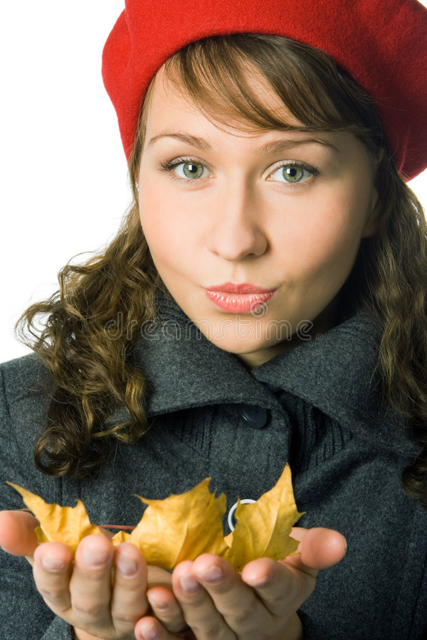 Download Girl  in outer clothing stock image. Image of face, hold - 3363249