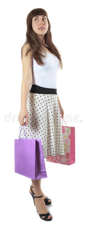 Download Girl With Packages For Purchases Stock Photo - Image: 13433316