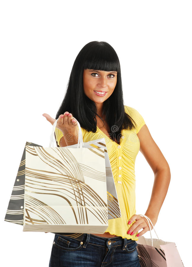 Download The Girl With Packages From Shop Stock Image - Image: 10447949
