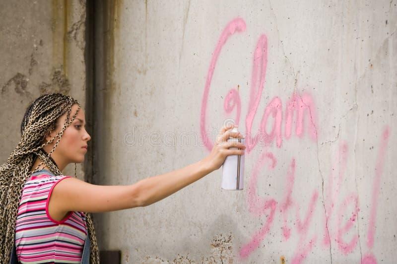 girl painting στοκ εικόνες με δικαίωμα ελεύθερης χρήσης