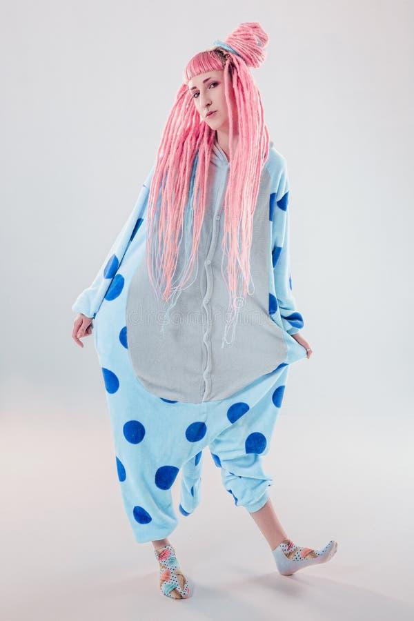 Girl in pajamas stock photography