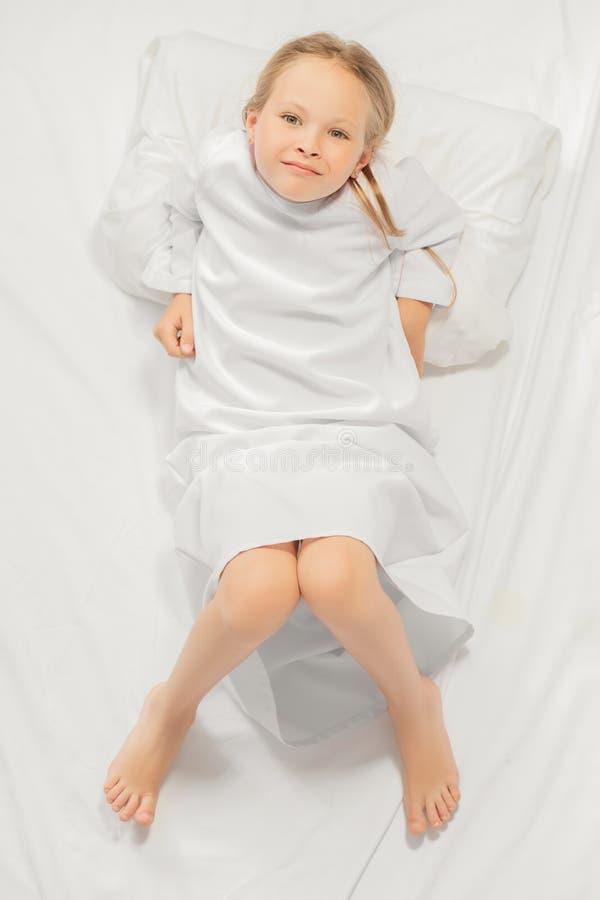 Girl in pajamas royalty free stock photos