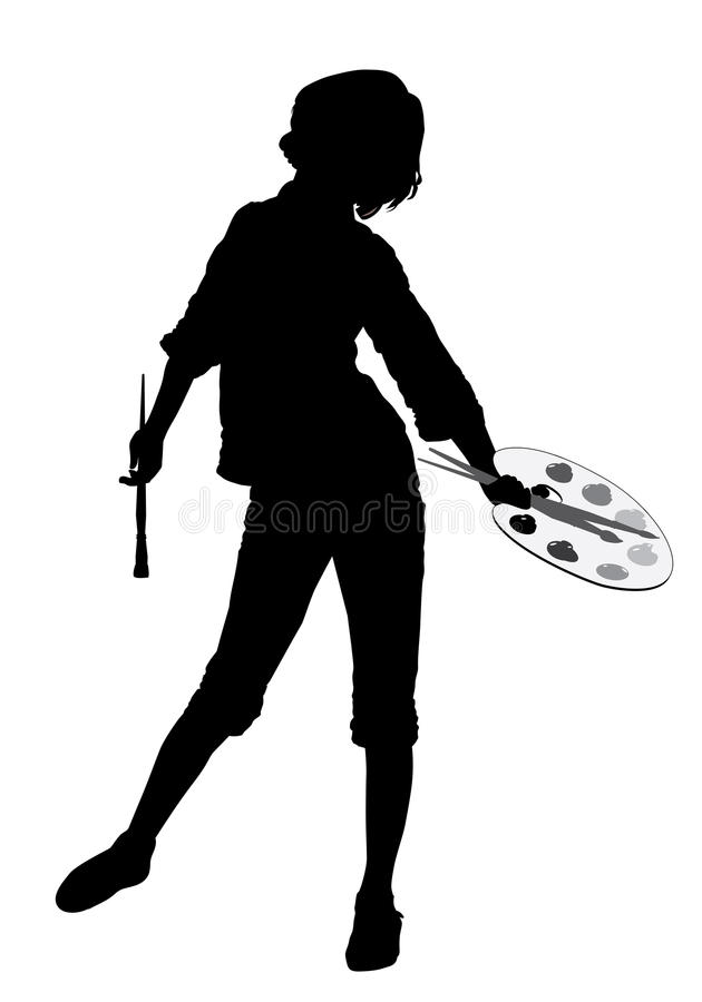 Download Girl_palette 2 stock vector. Image of creative, craft - 33121516