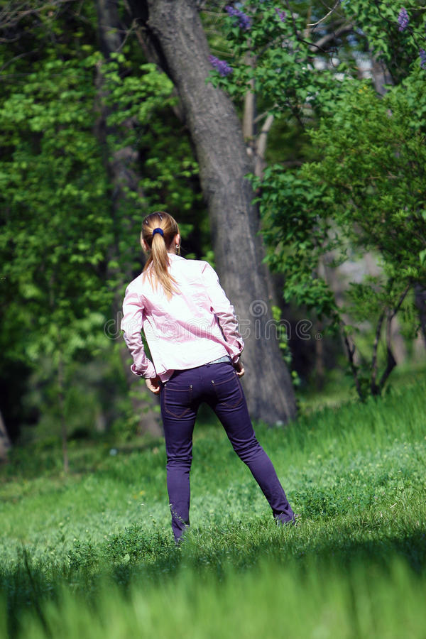 Download Girl in the park stock photo. Image of girls, teen, trees - 17154418