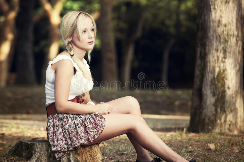 Girl In The Park Royalty Free Stock Images