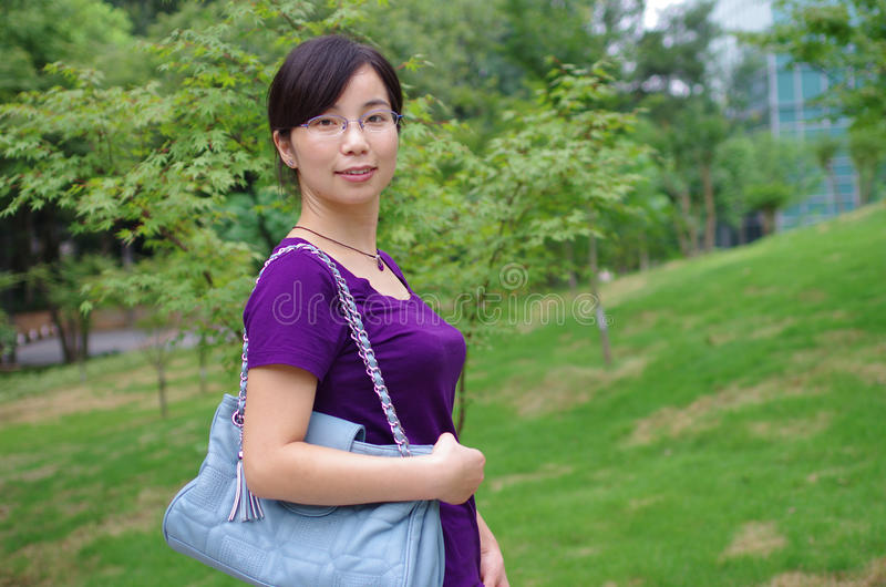Download Girl in a park stock image. Image of park, beautiful - 25784825