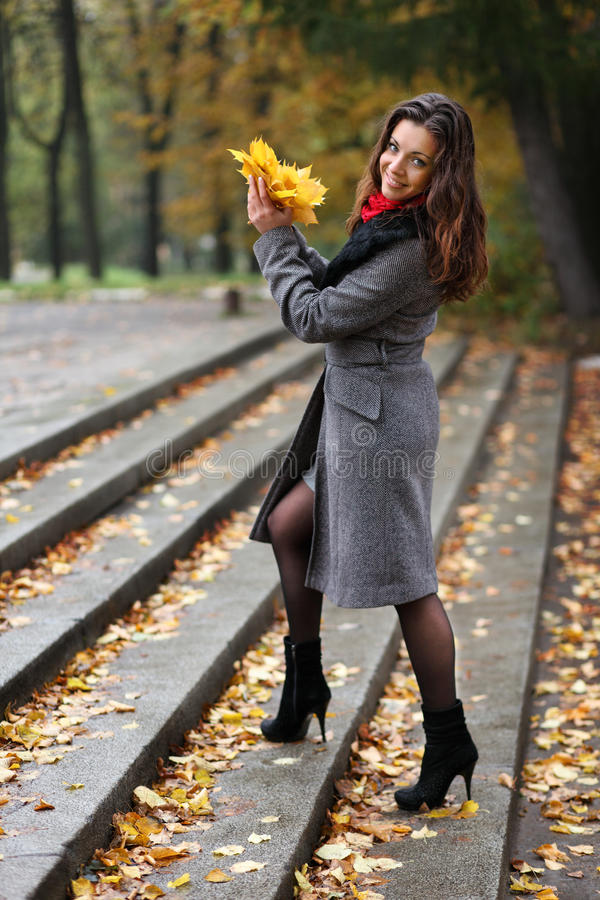 Download Girl In Park Colourful Autumn Stock Photo - Image: 21756794