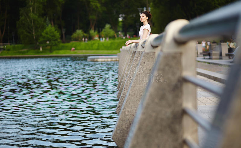 Girl in park royalty free stock images