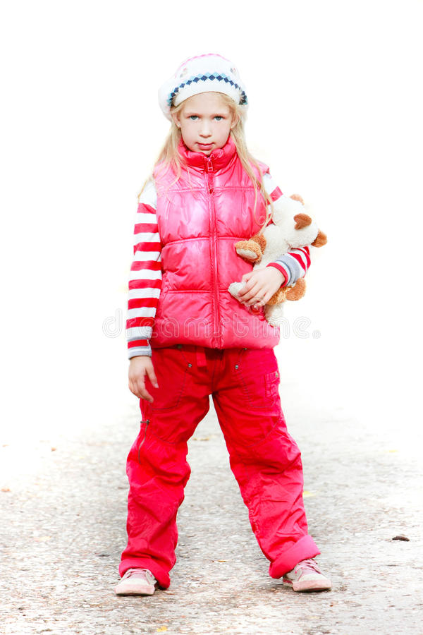 Download Girl On Park Road Partly Isolated Over White Stock Image - Image: 11548359