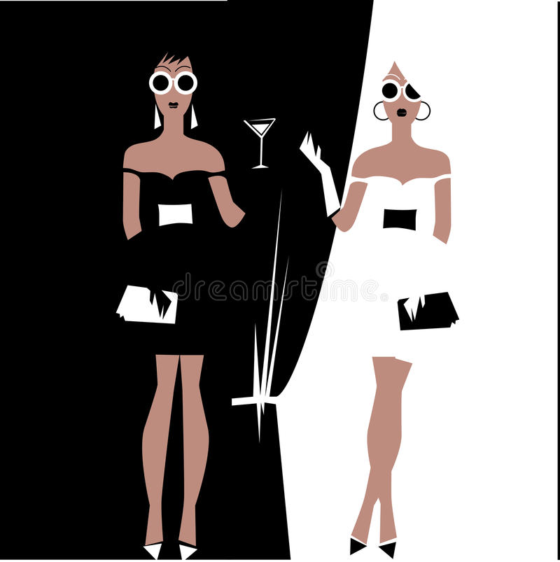 Download Girl in the party stock vector. Illustration of drape - 23204156