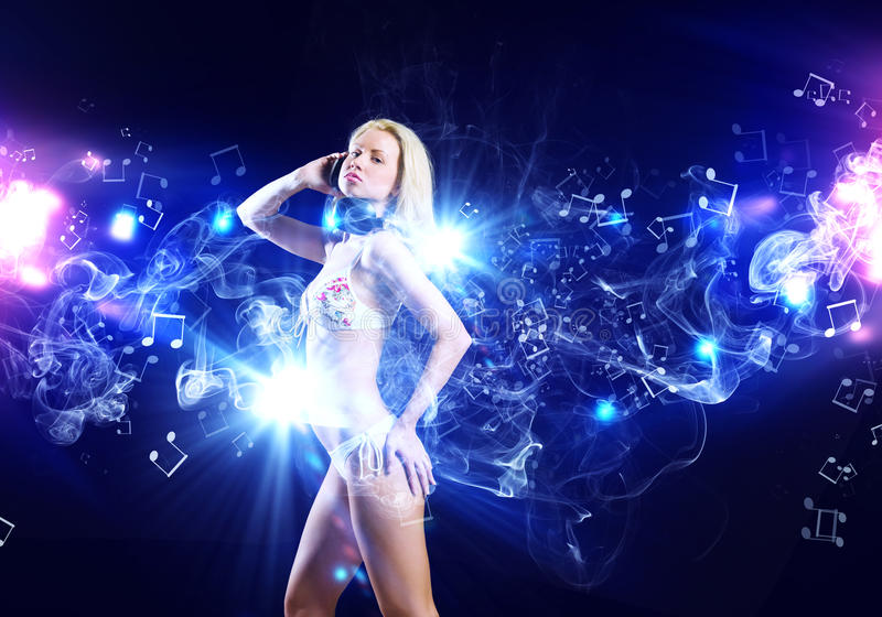 Girl at party royalty free stock images