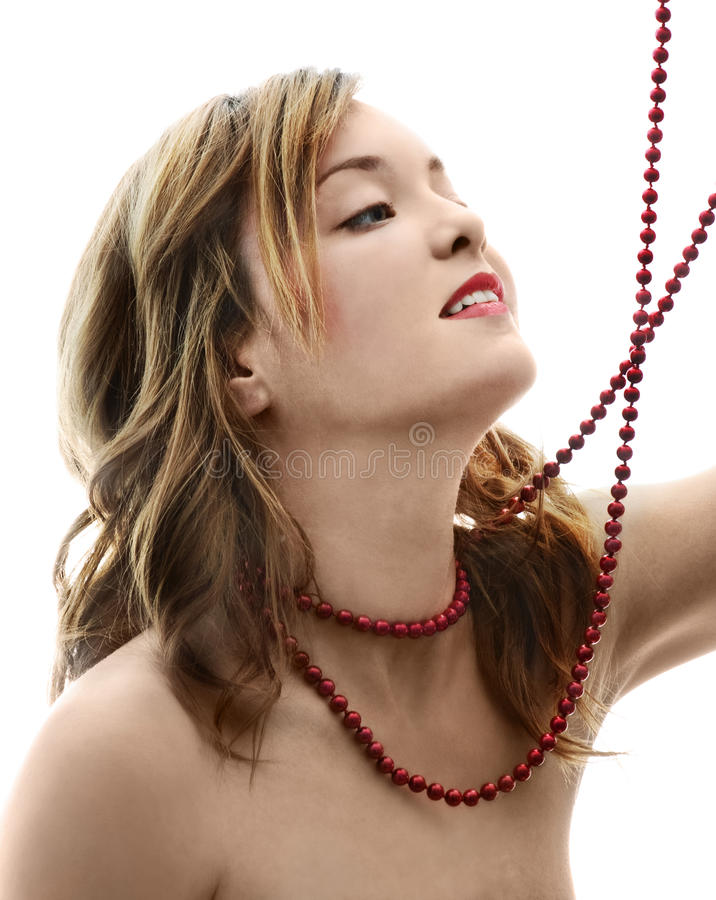 Download Girl with Pearls stock image. Image of glamour, cosmetic - 22679653