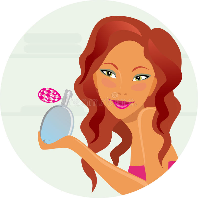 Download Girl with perfumery stock vector. Illustration of young - 18937840