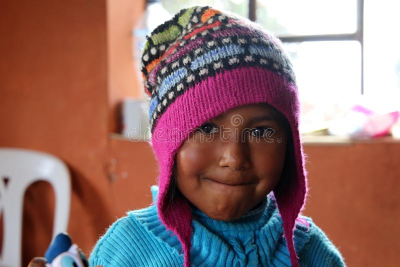 Girl in Peru royalty free stock photography