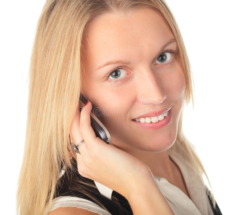Download Girl with phone stock photo. Image of businesswoman, communication - 11620816