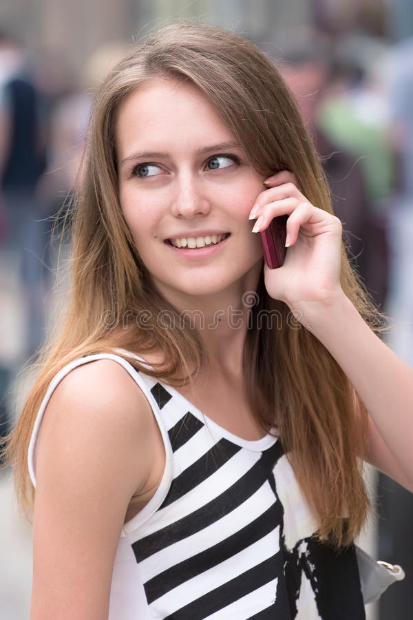Download Girl with phone stock photo. Image of cell, cellular - 20731910