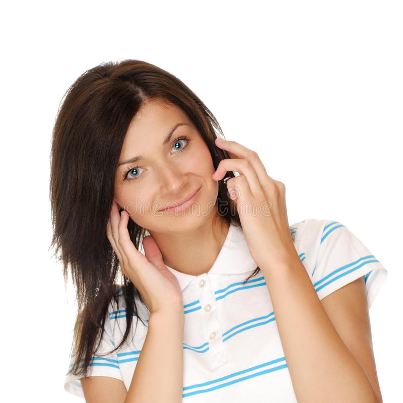 Download Girl with phone stock image. Image of call, holding, mobile - 26733421